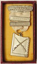 1942 Maine State Rifle & Pistol Assn Class-A First Dewar Course Medal Shooting