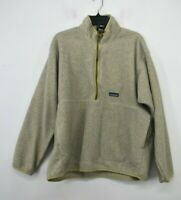 Patagonia Synchilla Womens 1/4 Zip Stand-Up Collar Fleece Kangaroo Sweater XL