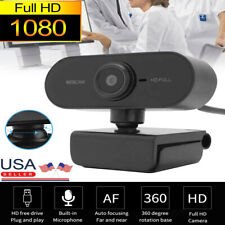 Webcam with Microphone Full HD 1080P Streaming Camera for PC MAC Laptops