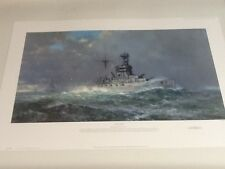 David Shepherd Glory Days HMS Queen Elizabeth ship signed limited edition print
