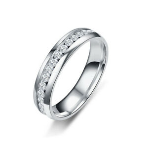 Men's Stainless Steel Ring Wedding Engagement Stack Couple Knuckle Finger Ring
