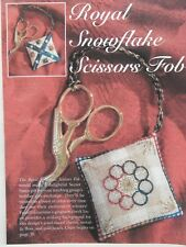Just Cross Stitch ROYAL SNOWFLAKE SCISSORS FOB Pattern & Partial Materials