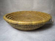 "Vintage Round Hand Woven Basket with Hanging Loop - 12 1/2"" Diameter"