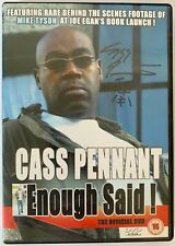 CASS PENNANT HAND SIGNED DVD - ENOUGH SAID - MIKE TYSON.