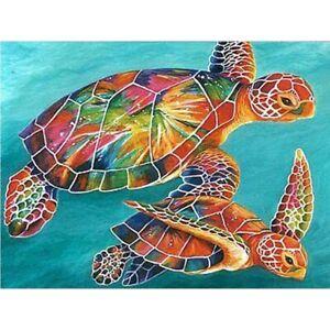 Diamond Painting 5D Full Square 60cmx45cm Sea Turtles,  Free Post Oz Seller