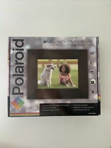 BRAND NEW Digital Picture Frame 8 inch Distressed Chestnut Wood Frame Polaroid