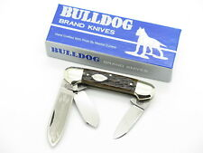 VTG 1986 BULLDOG BRAND SOLINGEN TOBACCO CANOE FOLDING POCKET KNIFE BONE