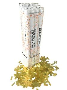 12 Piece 30-inch Metallic Gold Confetti Cannon party popper Twist & Pop