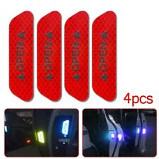 4x Super Red Car Door Open Sticker Reflective Tape Safety Warning Decal