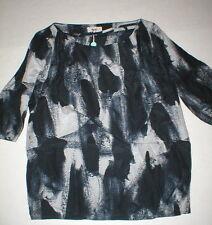 NWT New Womens Designer Acne Blouse Top 36 IT 6 Silk Black Gray Begonia