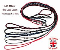 "4.5ft 140cm Dog Training Rope ""Slip-on"" Lead Leash With Collar Colours 4 or 8 mm"