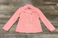 Vineyard Vines Womens Jacket Coat Double Breasted Orange Coral Size Small Used