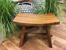 Asiatische Eiche Sitzhocker Holzschemel Gartenhocker Schemel Suar Massivholz