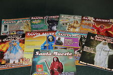 2.-SET 9 MAGAZINES revistas DEVOCION especial SANTA MUERTE altares apariciones