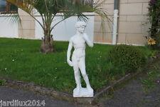 Statue David en pierre reconstituée, ton pierre blanche