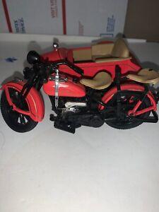 GENUINE 1933 HARLEY-DAVIDSON MOTORCYCLE W/SIDECAR LOCKING COIN BANK & KEY