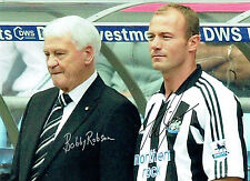 Bobby ROBSON & Alan SHEARER Double Signed Autograph 16x12 NUFC Photo AFTAL COA