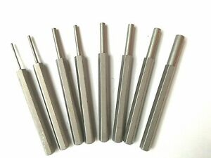 """Steel Pin Punch Set 1/16"""" To 5/16"""" Drift Pin Hand Tool Set 8 Punches"""