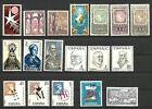España, 1958/1971, lote de 18 sellos nuevos sin señal fijasellos, MNH**
