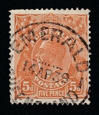 "Australia Queensland ""EMERALD"" Postmark on KGV 5d Brown"