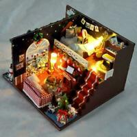 Miniature DIY Dollhouse Kit with Furniture Accessories Christmas Gift Creat W3S1
