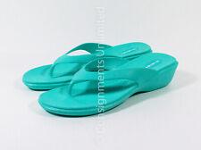 "Women's Okabashi Splash Sea Glass 2"" Wedge Flip Flops Thong Sandals Shoes Sz L"
