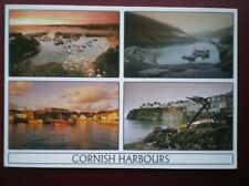 POSTCARD CORNWALL HARBOURS - PADSTOW - NEWQUAY - PORT ISSAC - BOSCASTLE