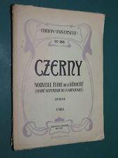 Partition Piano Nouvelle école de la vélocité Op. 834 CZERNY CAH 1