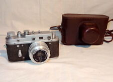 Vintage USSR Camera ZORKI 2c + Industar 50 (silver) 3.5/50mm