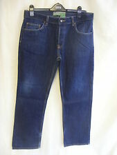 "Mens Jeans - Moto/Topman, 34""W, 32""L, dark blue, straight, casual, used - 0329"