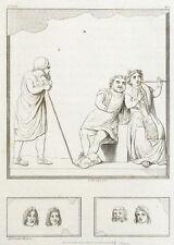Musica Interludio Antiquité Roma Roma Incisione originale 19esimo