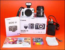Canon EOS Mirrorless Cámara DSLR + EF M-M 18-55mm Lente Kit + Flash IS STM Y Caja