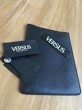 Versace Versus Black Leather iPad Or Tablet Case/Sleeve W Versace Logo With Tags