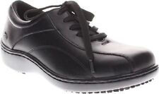 NEW SPRING STEP BLACK LEATHER WALKING WEDGE LOAFERS  SIZE 8.5 M $79