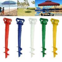 Garden Sun Beach Patio Umbrella Holder Ground Anchor Spike Fishing Stand UK Sale
