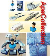 Star Trek Set 5 Models Enterprise Spock Etc Set Alfa Blue Trading Figures FURUTA