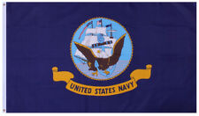 Usn Us Navy Flag 3' x 5' Double Stitched Polyester Flag Rothco 1458