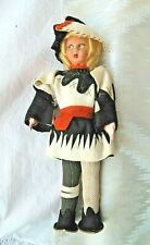 Vintage Medieval Courtier Lenci-Inspired Cloth Mini Doll, 1930S