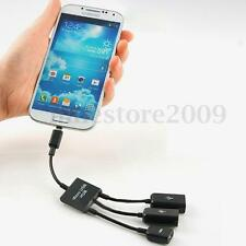3 Port Power Micro USB OTG Hub Adapter Cable Cord for Android Tablet PC & Phones