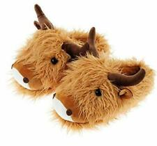 Highland Cow Slippers Fuzzy Friends Adults Men's Women's Novelty Christmas Gift