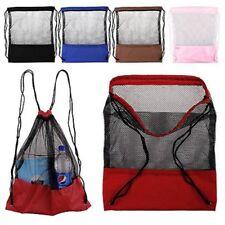 Mesh Bag Drawstring Backpack Gym Swim School Sport Dance Shoes Beach Backpack