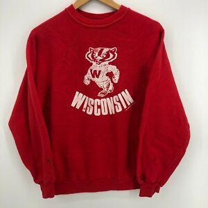 Sportswear Sweatshirt Men's XL Red Wisconsin Badgers Vintage 1982 USA