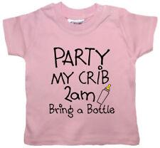 Camisas y camisetas de rosa para niños de 0 a 24 meses