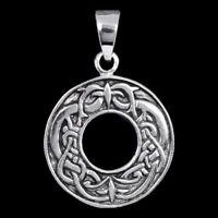 Keltischer Kreis Anhänger Silber Gothic Schmuck - NEU