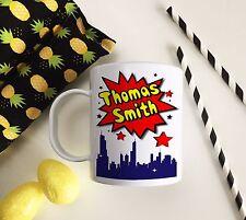 Personalised Plastic Unbreakable Kids Cup, Toddler Cup Comic Strip Superhero
