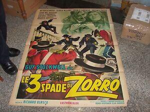 LE 3 SPADE DI ZORRO manifesto 2F originale 1963