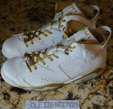 AIR JORDAN RETRO 6 VI GOLDEN MOMENT PACK SZ 11 GOLD MEDAL GMP DMP CIGAR OLYMPIC