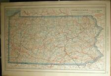 New Listing1919 Pennsylvania Maryland County Auto Road Map +Car Photo State Highway History