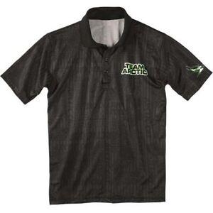 Arctic Cat Men's Performance Team Arctic Golf Shirt Polo - Black - 5239-93_