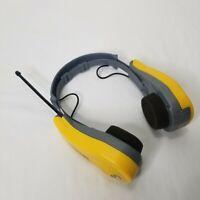 GE Sports FM AM Stereo Headphone Radio Headset Receiver Yellow Black Working